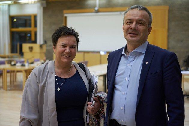 BRUTT: Forhandlingene mellom Finnmark og Troms ble brutt fredag. Her ser vi Ragnhild Vassvik og Willy Ørnebakk.