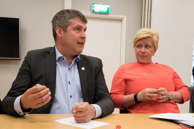 Bengt Rune Strifeldt og Siv Jensen