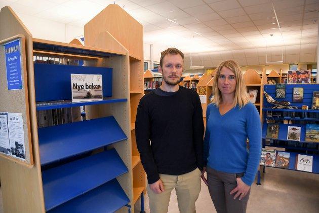 TILLITSVALGTE: Vegar Einvik Heitmann, tillitsvalgt for Lektorlaget, og Rakel Hunsdal Falsen, tillitsvalgt for Utdanningsforbundet, ved Alta videregående skole.