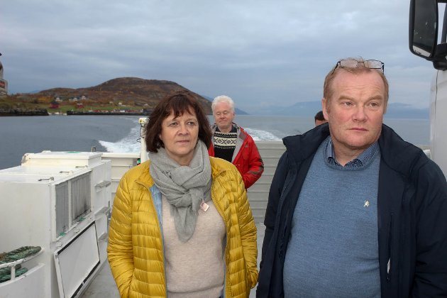 Bjørn Inge Mo og Kristina Hansen her på nye Årøy tidligere i høst.