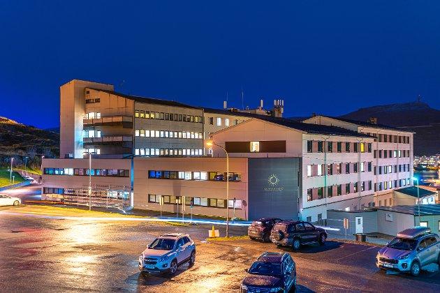 Hammerfest sykehus Vinter sykehus Bygning Bygninger Sykehuset Finnmarkssykehuset HF Illustrasjon Sykehusbygget Sykehusbygg