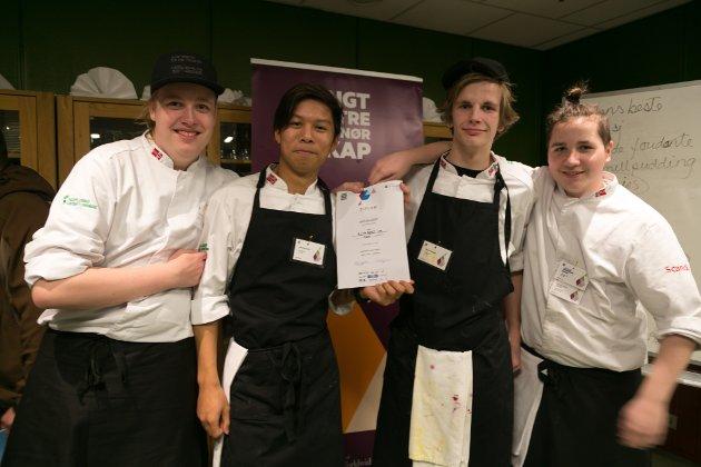 VANT: Markus Åkvik, Nua Srikrasang, Markus Ellingsen og Jonas Lederle Brox fra Alta vant årets kokkekamp under Matuka.