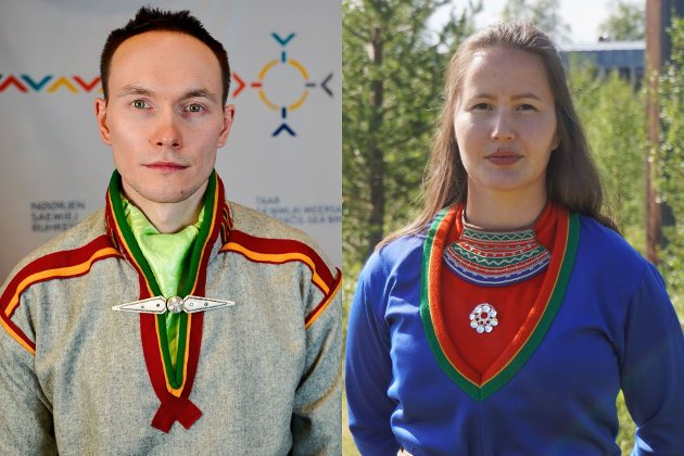 Runar Myrnes Balto, NSR-leder og 1. kandidat i Gáisi valgkrets, og Maja Kristine Jåma, politisk rådgiver og 1. kandidat i Sørsamisk valgkrets.