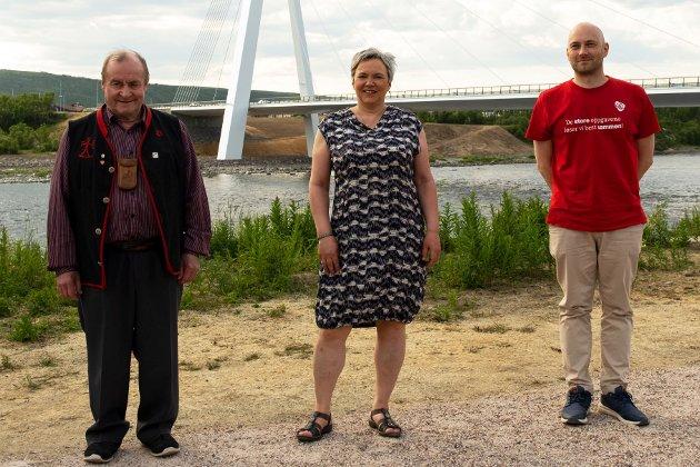 Bargiidbellodats tre toppkandidater i Østre valgkrets. f.v Hartvik Hansen, Ragnhild Vassvik, Tom Sottinen