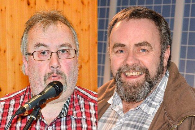 Forsvarer vedtak: Ledere for Rømskog Arbeiderparti og Aurskog-Høland Arbeiderparti, Roar Karlsen (t.v.) og Stein Lie.