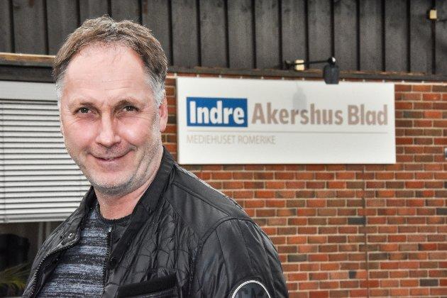 Ansvarlig redaktør og daglig leder Arne Henrik Vestreng i Indre Akershus Blad.