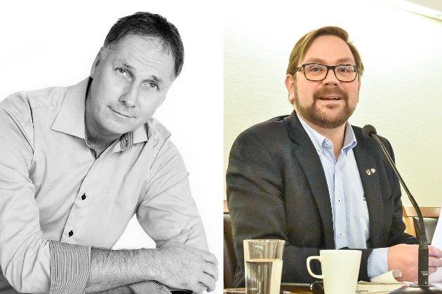 Får støtte: Indres redaktør Arne Henrik Vestreng (t.v.) mener ordfører Roger Evjen fortjener millionlønna.