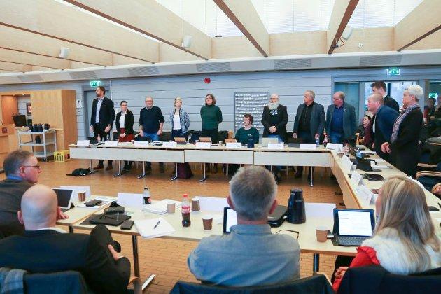 PÅ LAG MED STYRINGSPARTIA: Jon Torger Hetland Salte (MDG) sat i ro då opposisjonen i Time kommune stemte imot budsjettforslaget frå fleirtalspartia.