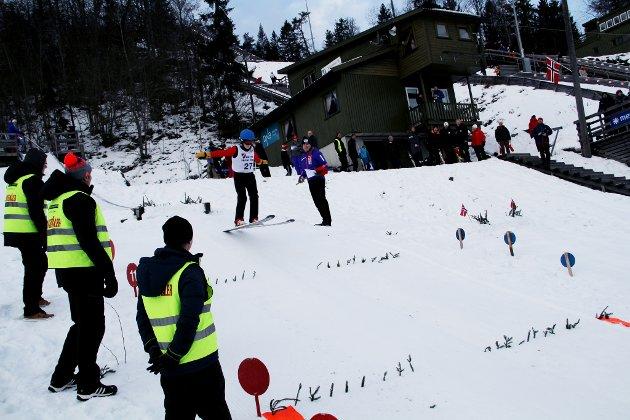HOPPER: Ole Leikaas Bringaker (8) fra Hof IL hopper seks meter i K10.