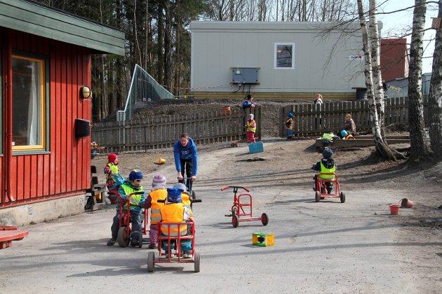 Legges ned? Blir det et politisk ja til å bygge nytt på Gullhaug, slukkes lysene ved Knutseskogen barnehage. Arkivfoto