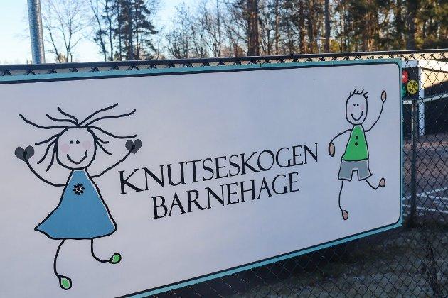 Knutseskogen barnehage: Framtiden er usikker for barnehagen i paviljonger. Foto: Ulrikke G. Narvesen