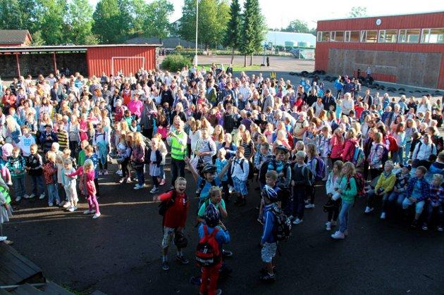 Sprenger rammene: Ekeberg skole er et av eksemplene på sprengt kapasitet. Arkivfoto