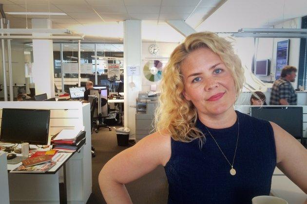 SNØRR: Nyhetsredaktør Linn K. Djønne er livredd for snørr. Foto: Tonhild Solberg Strand