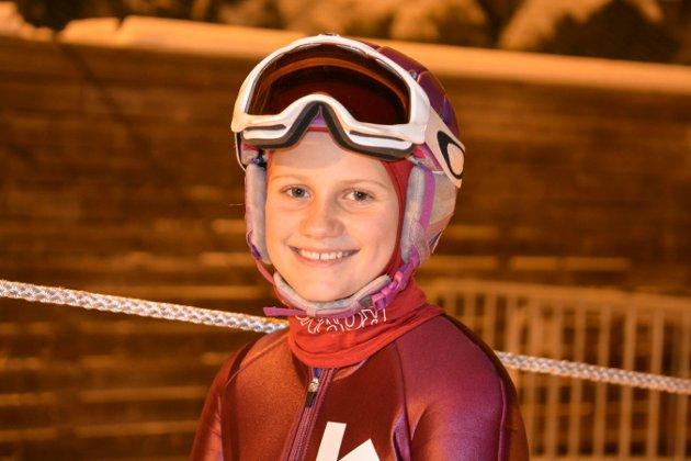 Hopptrening barn KIF.  Maria Liane (12). Foto: Mona Sandviken