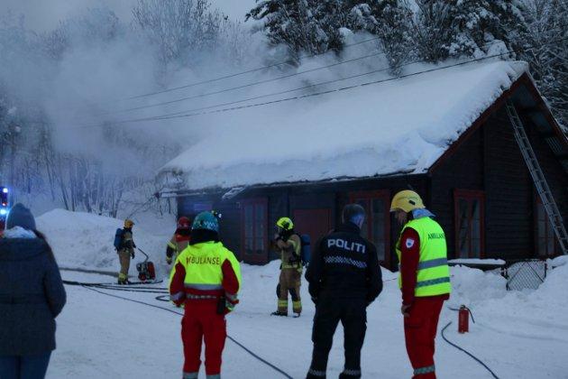 Brann i speiderhuset i Jonsekollen.