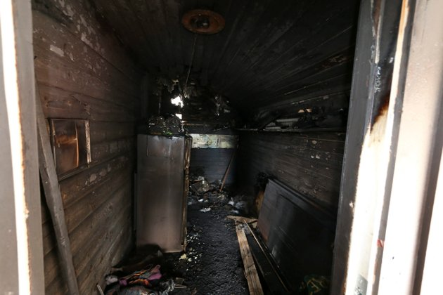 GANGEN: Slik ser det ut rett innenfor døra på Speiderhuset.