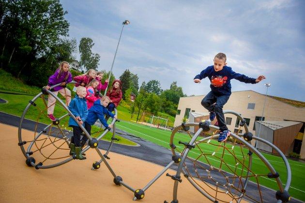 SFO på Hegg skole i Lierbyen, to uker før skolen åpner.