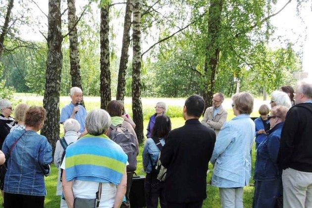Knut A. Andersen holder foredrag om St. Hallvard.