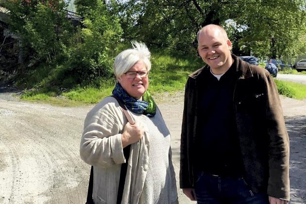 Tone Bergflødt og Espen Lahnstein fra Senterpartiet