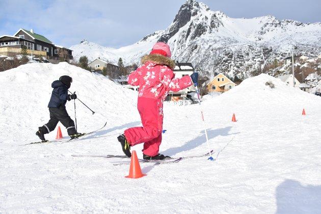 Barna konkurrerer i slalom/langrenn.