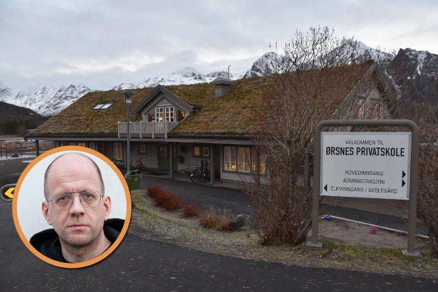 Kritisk søkelys: Privatskolene på Ørsnes (bildet) og Vikten og Guds Menighet er gjenstand for kritisk søkelys i en ny NRK-dokumentar.