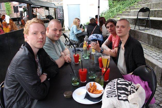 Fra venstre: Adrian, Andreas, Kristoffer og Eirik.