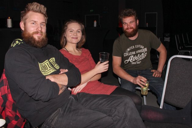 Anders, Kristine og Anders gledet seg til stand up på Verket scene.
