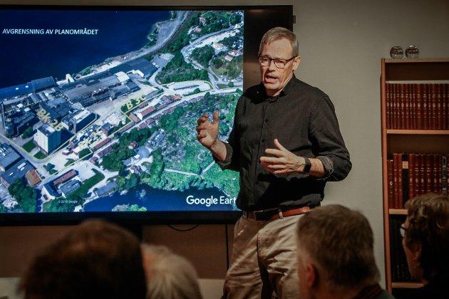 Kjempeutbygging: Allerede i fjor vår presenterte Hans Baalerud i  Asplan Viak den store utbygging for midtre del av Verket.