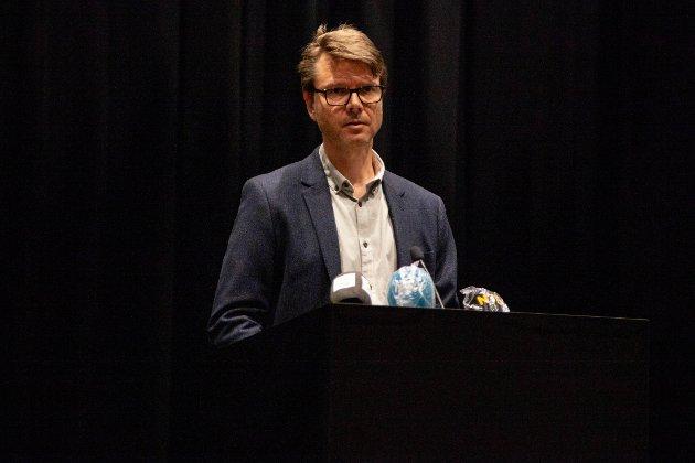 Kommuneoverlege Kristian Krogshus vil opplyse innbyggerne om hva som er status rundt korona i Moss.