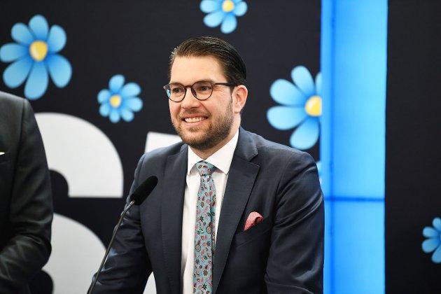 Sverigedemokraternas partileder Jimmie Åkesson sier han lenge har ment at SD kom til å bli det største partiet i Sverige før eller senere.