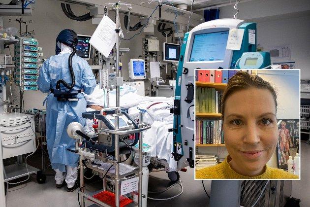 Fra intensivavdelingen på Oslo Universitetssykehus Rikshospitalet i november 2020.  Illustrasjonsbilde.