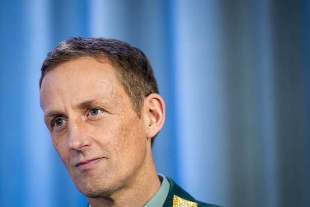 Forsvarssjef Eirik Kristoffersen under presentasjonen av Forsvarets undersøkelse om mobbing og seksuell trakassering den 22. februar.