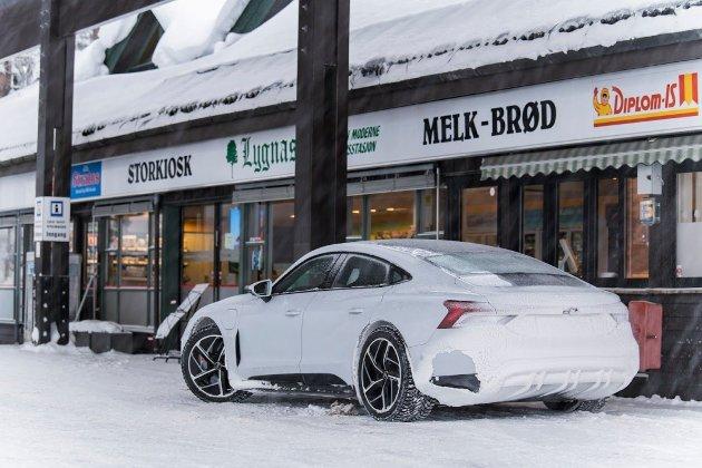 Som du skjønner: Her er Audi e-tron GT endelig i Norge.