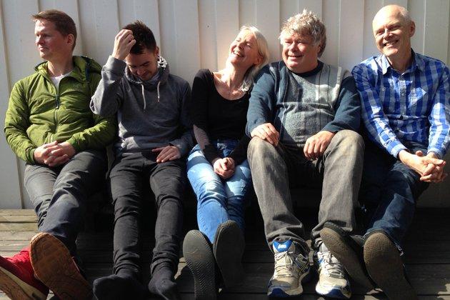 Tine Asmundsen & Co - med Vidar Johansen nærmeste seg til høyre for oss.