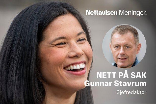 Oslo 20210325.  Lan Marie Berg før landsmøtet til MDG. Foto: Terje Pedersen / NTB