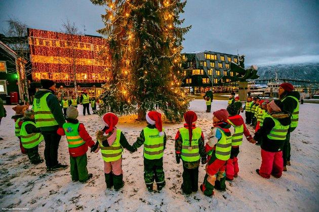 Julestemning på torget i Tromsø.