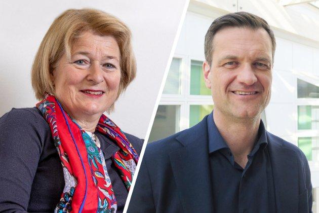 Rektor Anne Husebekk og direktør Jørgen Fossland, UiT Norges arktiske universitet