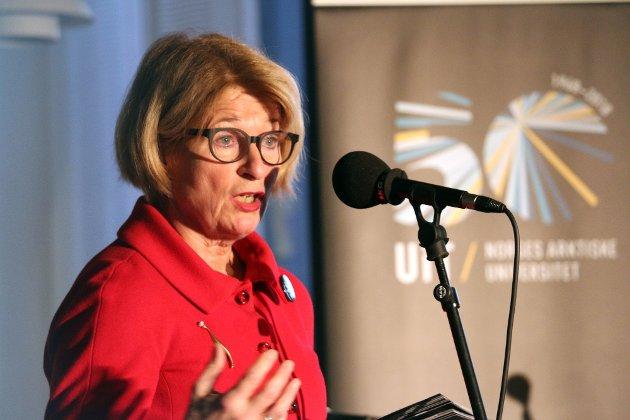 URYDDIG: Rektor Anne Husebekk burde holdt avstand til prosessen rundt å peke ut sin etterfølger som styreleder, mener Nordlys. Foto: Ragnhild Gustad/Nordlys