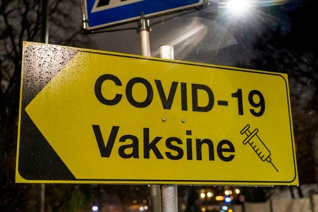 Vaksinestasjon ved Lovisenberg sykehus i Oslo.