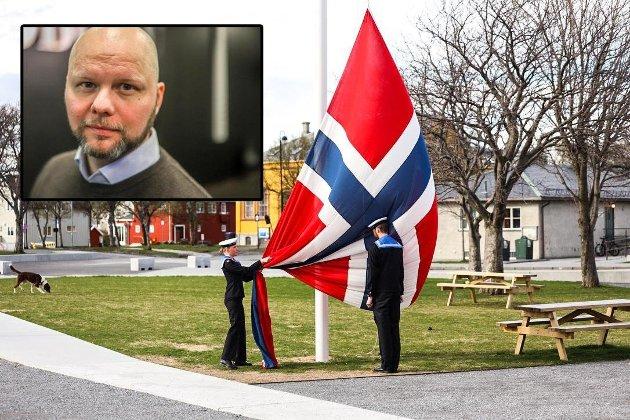 FYLL OG FEST: Espen Bless Stenberg mener det går i feil retning når det gjelder nasjonaldagen. Foto: Audun Sætermo/Andreas Sandnes Olsen.