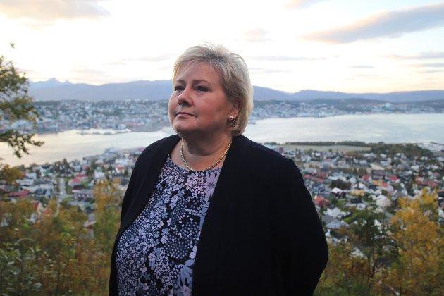 Statsminister Erna Solberg (H) under et tidligere besøk i Tromsø. Foto: Torgrim Rath Olsen/Nordlys