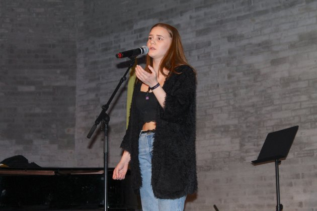 """SANG ADELE: Ida Matatula sang """"One and only"""" av Adele. Ida var med på UKM for fjerde gang."""