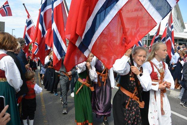 - Her går Gabi og 7. klasse på Nordstrand skole i flaggborgen, skriver Arild Langaas.