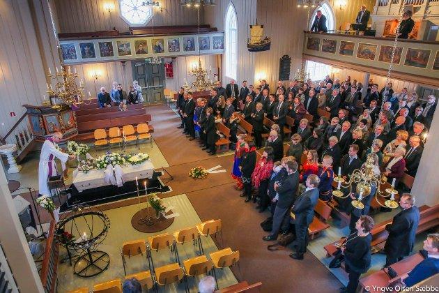 Ivan Kristoffersen ble gravlagt fra Elverhøy kirke i Tromsø, torsdag 3. mars.