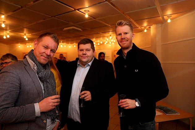 HOVEDMENNENE BAK TV-3 SERIEN: Fra venstre ser vi Kjetil Johnsen i Novemberfilm,  Jon Henrik Larsen og produsent Vidar Amundsen