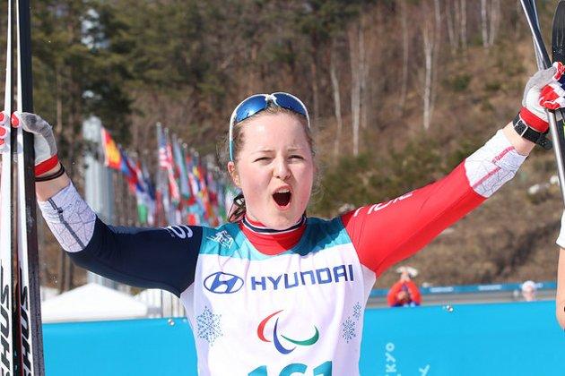 YNGSTE: Vilde Nilsen fra Tromsø er den yngste deltakeren i Paralympics i Sør-Korea. Onsdag kjempet hun seg til sølvmedalje i sprint.
