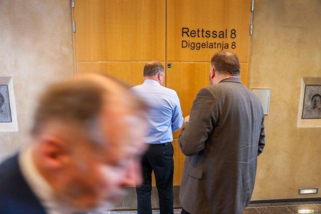 RETTSSAL 8: Dørene åpnes i rettssal 8 i Tingretten.