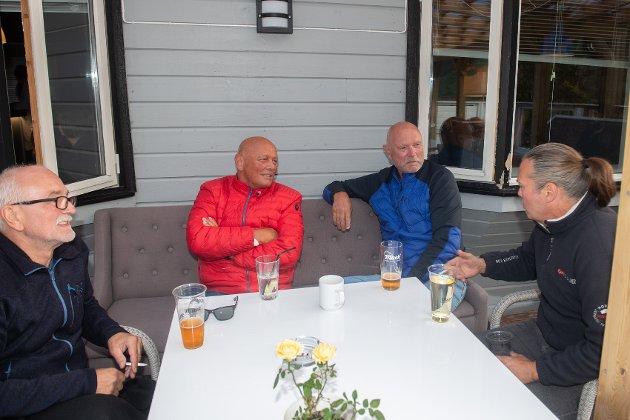 LEIRVAAG MUSIKKFEST 2021: Roy Cato Nyman, Kjell Jostein Karlsen, Svein Harald Karlsen og Kristian Longva.