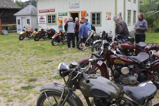 KLENODIER: Gamle motorsykler, de fleste Indian. Alle foto: Geir Norling