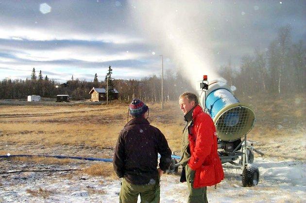 2003, snøkanoner på beitostølen
